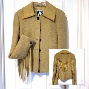 Wayne Rogers Fringed Wool Western Jacket